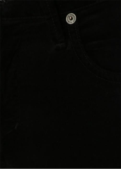 Siyah Yüksek Bel Kadife Pantolon