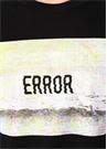 Siyah Logolu Baskılı Organik Pamuk T-shirt
