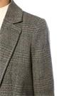 Leto Kelebek Yaka Balıksırtı Desenli Yün Ceket