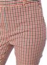 Farina Kırmızı Ekoseli Dar Paça Pantolon