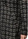 Siyah Kapüşonlu Ekose Desenli Tweed Gömlek