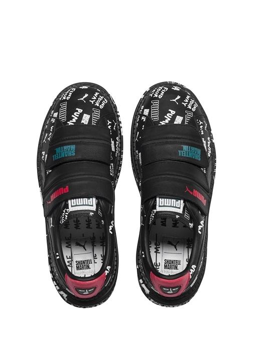 Shantell Martin Platform Trace Strap Siyah Kadın Deri Sneaker