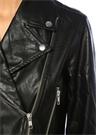 Nightrider Siyah Kelebek Yaka Crop Biker Ceket