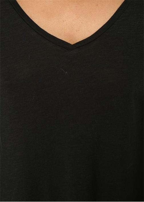 Jacksonville Siyah V Yaka Basic T-shirt