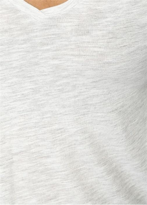 Jacksonville Gri Melanj Uzun Kollu T-shirt