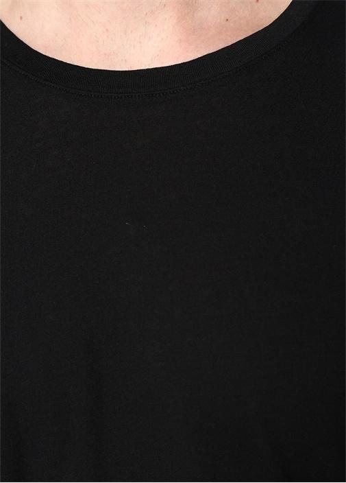 Decatur Siyah Bisiklet Yaka Uzun Kollu T-shirt