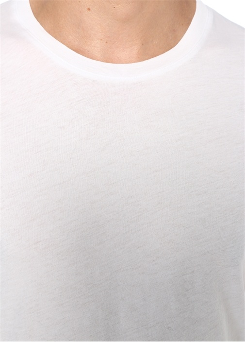 Decatur Beyaz Basic T-shirt