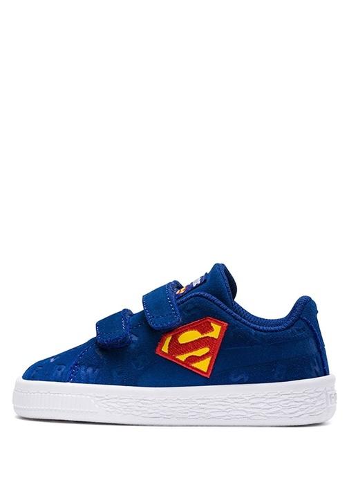 JL Suede Mavi Karakter Logolu Erkek Çocuk Sneaker