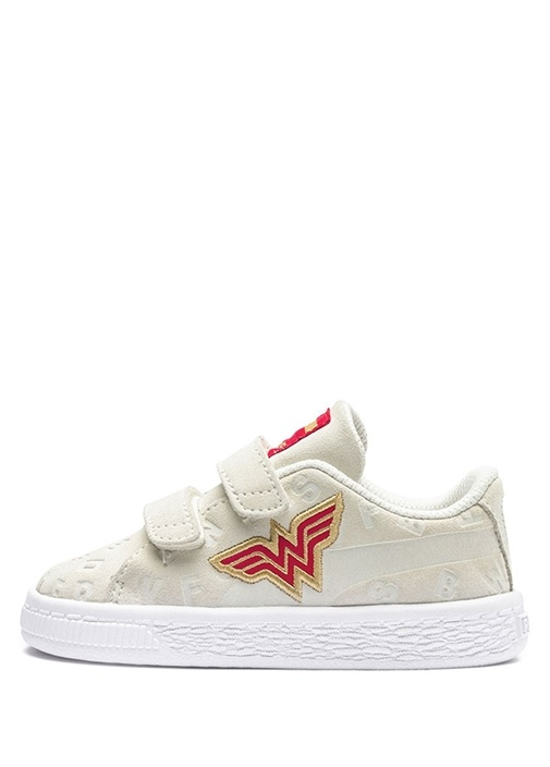 Justice League Beyaz Unisex Bebek Süet Sneaker