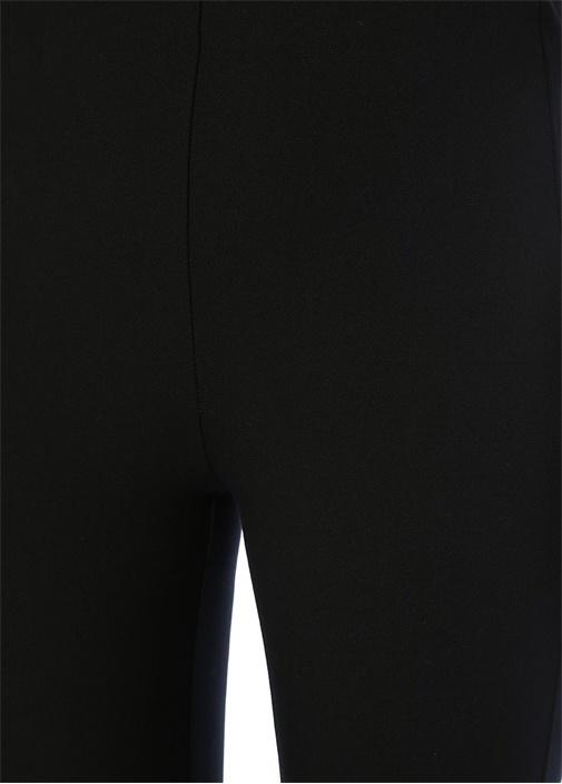Simone Siyah Yüksek Bel Crop Streç Pantolon