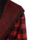 Ismael B Kırmızı Siyah Kareli Kuşaklı Yün Ceket