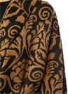 Yetha Siyah Sarı Etnik Desenli Kapüşonlu Ceket