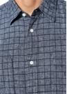 Mavi İngiliz Yaka Kareli Gömlek