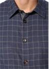 Lacivert Kareli İngiliz Yaka Gömlek