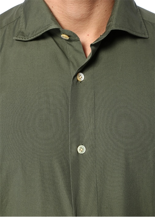 Haki İngiliz Yaka Gömlek