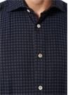 Lacivert İngiliz Yaka Kareli Gömlek