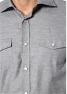Gri Melanj İngiliz Yaka Gömlek
