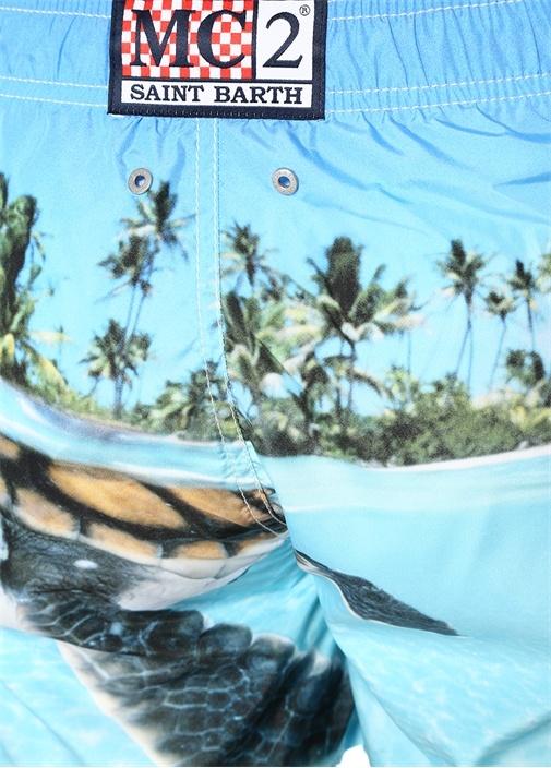 Turkuaz Kaplumbağa Fotoğraf Baskılı Mayo