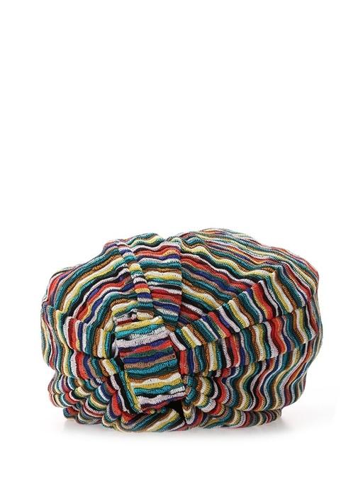 Colourblocked Çizgi Dokulu Kadın Saç Aksesuarı