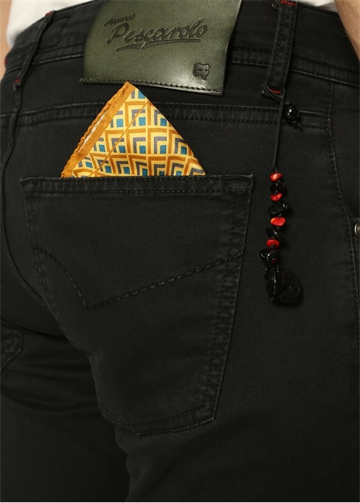 Lacivert Poşet Mendil Detaylı Pantolon
