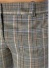 Ekose Desenli Normal Bel Boru Paça Yün Pantolon