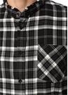 Donny Siyah Kareli Yıpratma Detaylı Gömlek