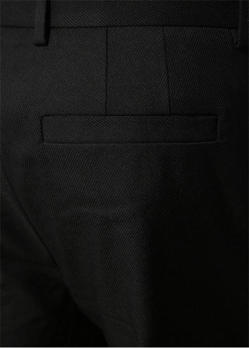 Sebastian Siyah Pileli Yün Pantolon