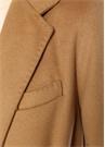 Kamel Kelebek Yaka Klasik Yün Palto