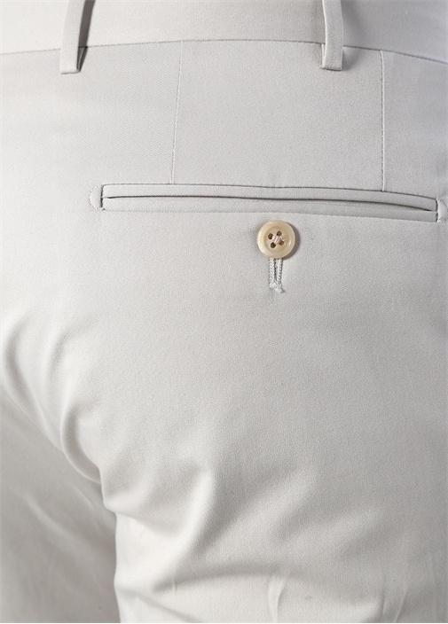 Drop 7 Ekru Boru Paça Kanvas Pantolon