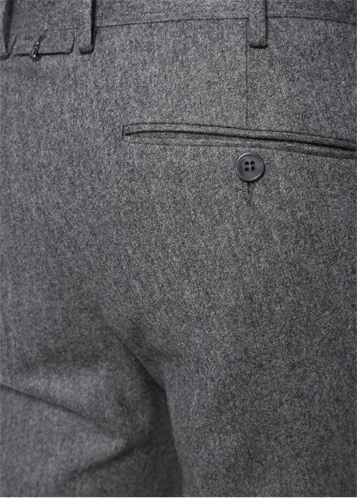 Gri Melanj Normal Bel Dar Paça Pantolon