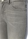 Gri Yanı Sıra Taşlı Slim Fit Jean Pantolon