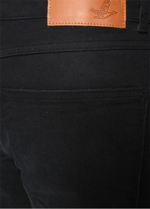 Slim Fit Siyah Jean Şort
