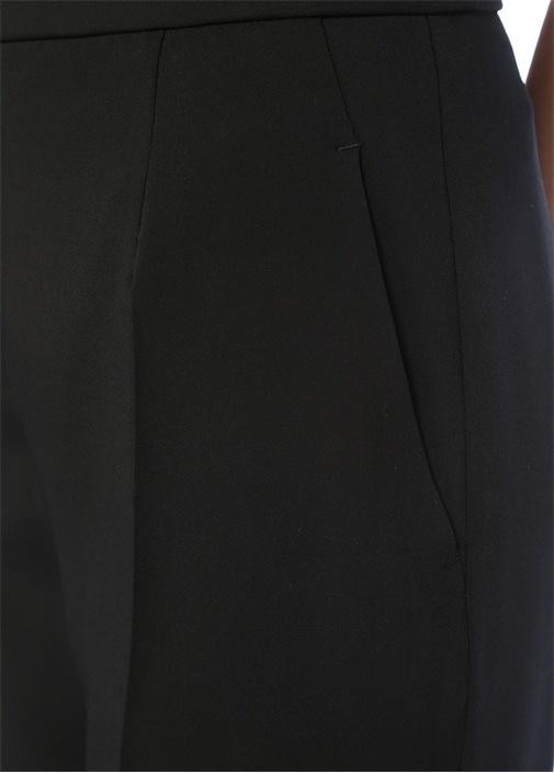 Siyah Yüksek Bel Bol Paça Krep Pantolon