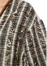 İşleme Detaylı Arkası Garnili Uzun Tweed Pardösü