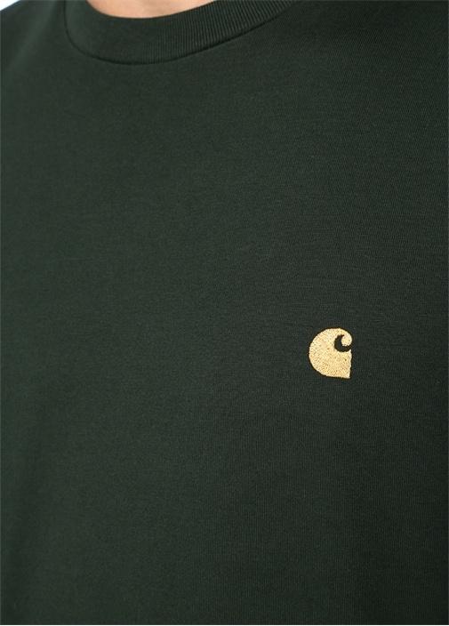 Haki Logo Nakışlı Basic T-shirt
