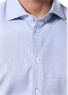 Slim Fit Mavi Kesik Yaka Gömlek