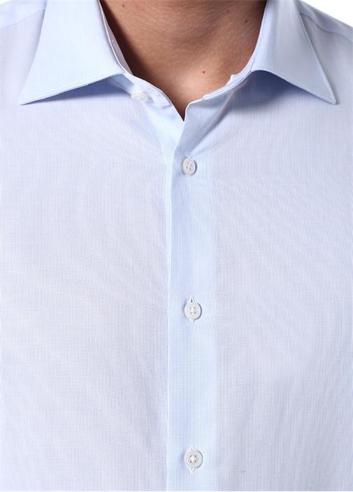 Custom Fit Mavi Gömlek