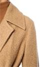 Kamel Kelebek Yaka Kuşaklı Uzun Yün Palto