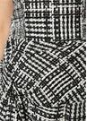 Siyah Beyaz Straplez Düğümlü Mini TweedElbise