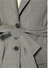 Gri Kırlangıç Yaka Beli Kuşaklı Yün Ceket
