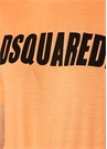 Turuncu Siyah Logo Baskılı T-shirt