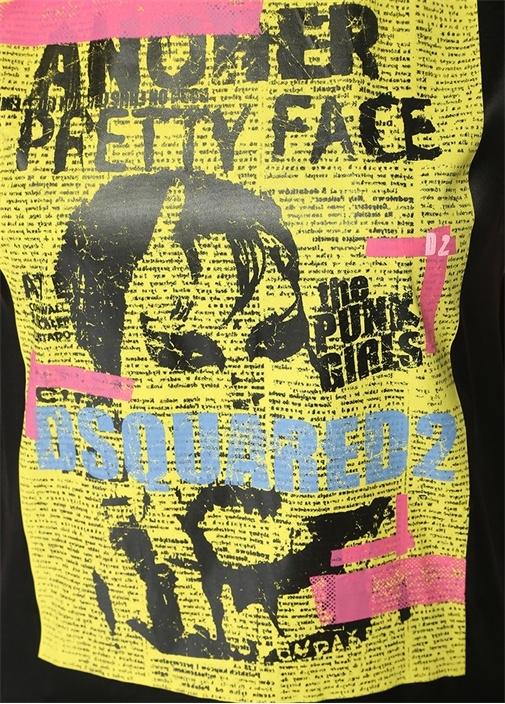 Another Pretty Face Siyah Baskılı SatenBluz