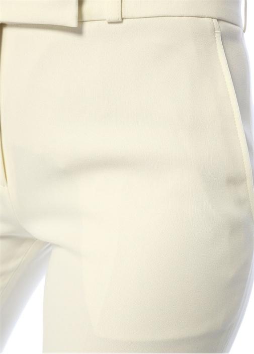 Ekru Normal Bel Boru Paça Pantolon