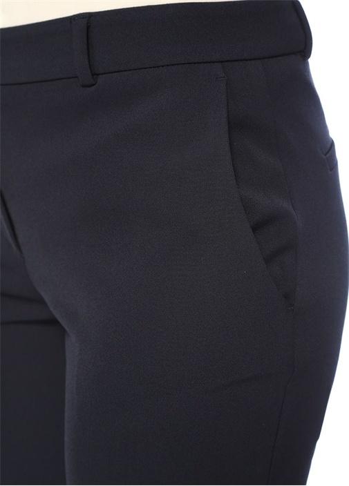 Lacivert Klasik Streç Cigarette Pantolon