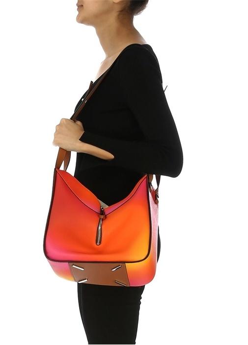 Hammock Medium Colorblock Kadın Deri Omuz Çantası