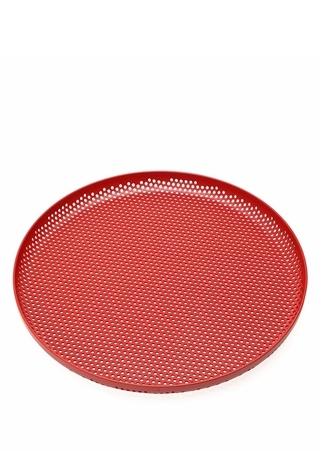 Kırmızı Delik Detaylı Dekoratif Tepsi