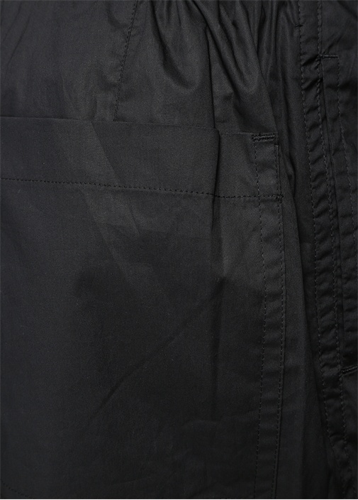 Siyah Beli Kordonlu Dar Paça Pantolon