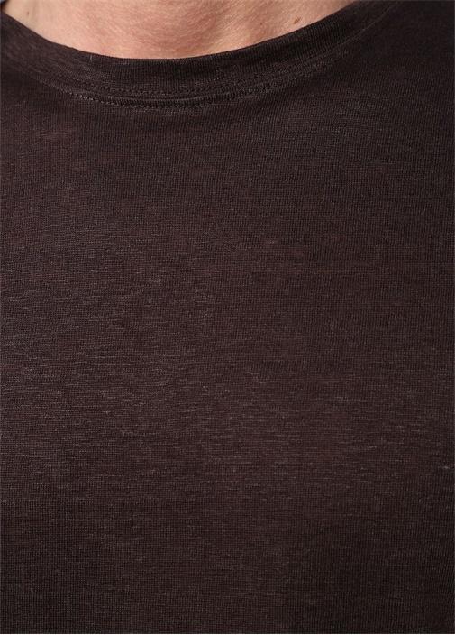 Kahverengi Keten T-shirt
