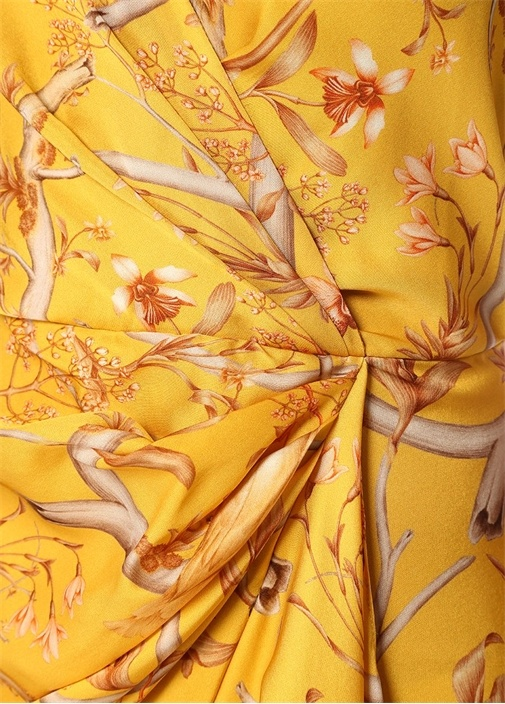 Milagro De Miel Hardal Midi İpek Anvelop Elbise