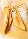 Caribbean Vibe Sarı Düğüm Detaylı Dekolteli Mayo